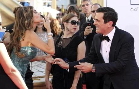 Sofia Vergara and Ty Burrell, of